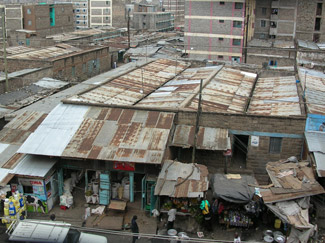 Tin Roof Housing in Mathare Slums